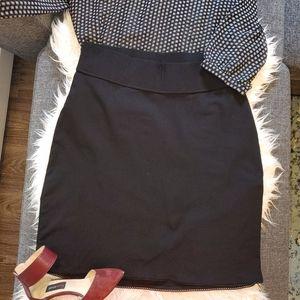 George  Maternity stretchy black skirt size medi